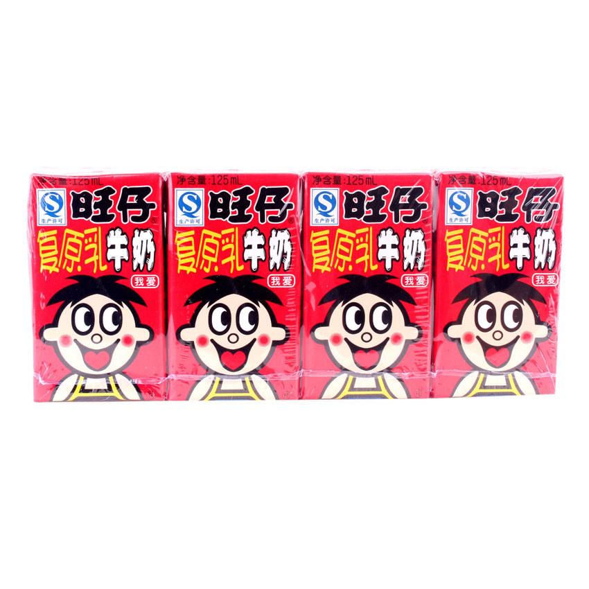 旺旺旺仔利乐包牛奶125ml(新旧包装随机发货)